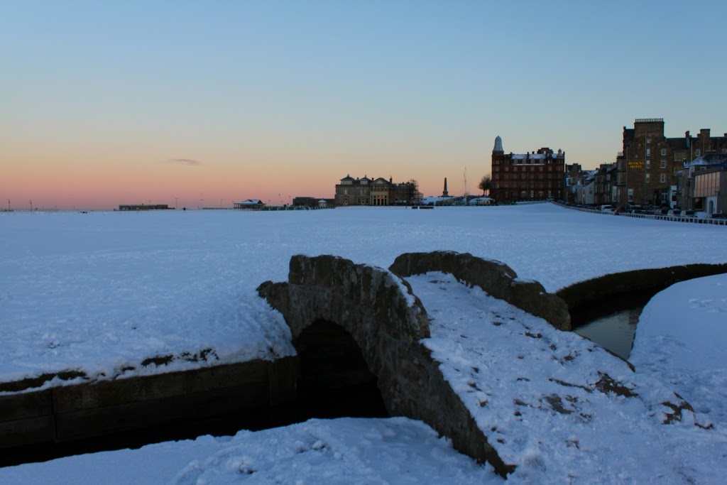 Snow-sunset
