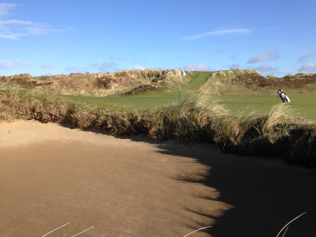 5th Green - Blown out bunker