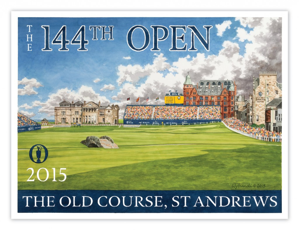 2015 British Open Poster