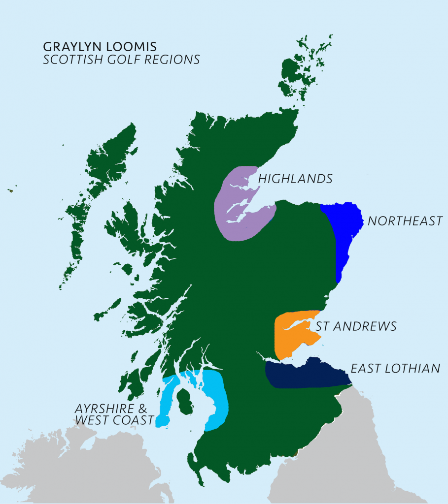 Scottish Region Map
